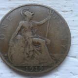 1 penny 1919 M. Britanie, Europa