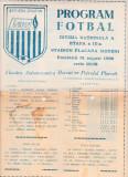 Program meci fotbal FLACARA MORENI - PETROLUL PLOIESTI 31.08.1986