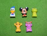 Lot 5 figurine personaje desene animate Disney, 3.5 cm, plastic
