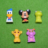 Lot 5 figurine personaje desene animate Disney, 3.5 cm, plastic - Figurina Desene animate