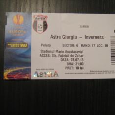 Bilet de meci Astra Giurgiu - Inverness (23 iulie 2015) - Bilet meci