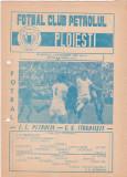 Program meci fotbal PETROLUL PLOIESTI - CS TARGOVISTE 05.10.1980