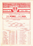 Program meci fotbal PETROLUL PLOIESTI - SC BACAU 14.06.1983