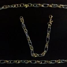 Lant si bratara aur 18k - Set bijuterii aur