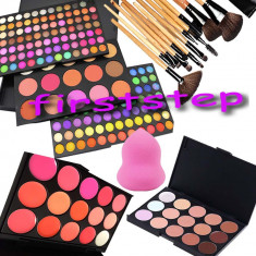 Trusa machiaj Mac Cosmetics MAC 183 culori 12 pensule Fond de ten corector RUJ buretel PARA