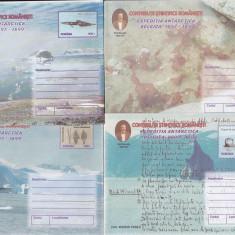 Bnk fil Romania 1999 lot 8 intreguri postale Expeditia Belgica