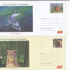 Bnk fil Romania 4 intreguri postale Fauna protejata in Romania