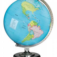 Glob Geografic Iluminat Albastru