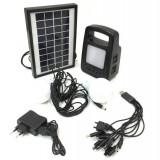 Incarcator Solar Universal Lai Tuo 2, 5 W cu Lanterna si 2 Becuri Extensibile