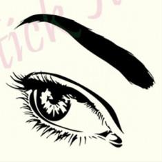Eye_Tatuaje de Perete_Sticker Decorativ _ Cod: WALL-749-Dim: 25 cm. x 22.2 cm.