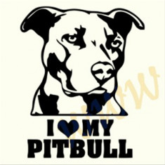 I love my Pitbull_Perete_Sticker_ Cod: WALL-769-Dimensiuni: 20 cm. x 16.4 cm.