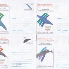 Bnk fil Romania 1997 lot 5 intreguri postale - Balene protejate