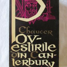 """POVESTIRILE DIN CANTERBURY"", Vol. I, G. Chaucer, 1964. Ilustratii Val Munteanu - Roman"