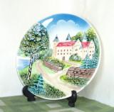 Farfurie (Aplica) portelan, în basorelief, pictata manual - Schramberg, Germany, Farfurii