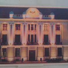 Vedere Timisoara Palatul Postelor noaptea - Carte Postala Banat 1904-1918, Necirculata, Fotografie