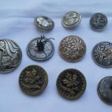 Deosebiti si Vechi Nasturi Vintage metalici 10 bucati modele diverse florale