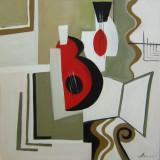 Tablou ulei-MUZICALA - Pictor roman, Peisaje, Impresionism