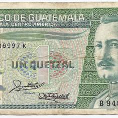 Guatemala 1 Quetzal 06.01.1988 (9486997) P-66 - bancnota america