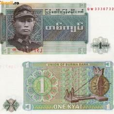 BURMA 1 kyat 1972 UNC!!!
