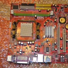 Placa de Baza MSI K9VGM-V, Socket AM2 DDR2 PCI-E - poze reale, Pentru AMD, ATX