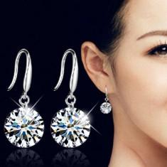 Cercei Fashion Dama Argint Si Crystal