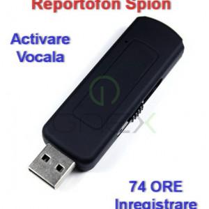 Nou 2018!!! | Stick Reportofon Spion cu ACTIVARE VOCALA | 74 ORE de Inregistrare