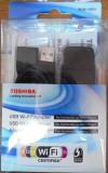Stick wirelessToshiba,dual band 2,4 si 5 GHZ , a,b,g,n-300MHz full ,USB 2.0