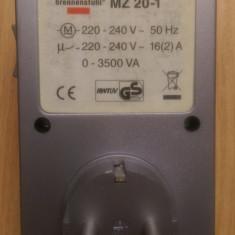 Priza programabila mecanica brennenstuhl MZ 20-1 - Priza si intrerupator
