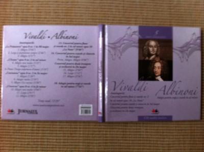 Vivaldi Albinoni cd disc muzica clasica culta volumul 5 booklet texte info foto