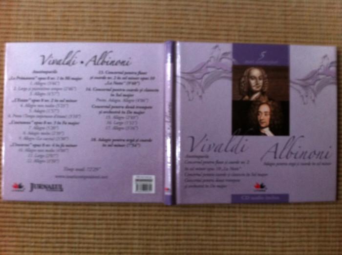Vivaldi Albinoni cd disc muzica clasica culta volumul 5 booklet texte info