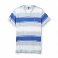 Tricou U.S. Polo Assn dungi - Barbati - 100% Original-Bleu /Rosu/ Verde - Tricou barbati US Polo Assn, Marime: S, Maneca scurta, Bumbac