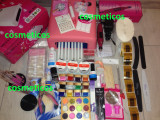 Kit set manichiura unghii false- lampa UV,pila,geluri ccn,tipsuri - KIT BEST