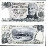 !!! ARGENTINA - 50 PESOS (1976) - P 301a - UNC