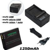 1 PATONA | Incarcator 4in1+ Acumulator Premium Panasonic DMW BCM13 DMC FT5 TZ3 - Incarcator Aparat Foto