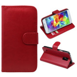 Husa toc RED Samsung Galaxy S5 G900 i9600 + folie protectie ecran, Rosu, Piele Ecologica
