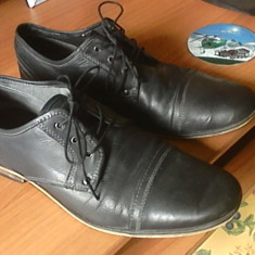 Oferta doar azi - Pantofi barbat Selected, Marime: 42, Culoare: Gri, Piele naturala, Gri