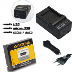 1 PATONA | Incarcator 4in1 USB + acumulator pt GOPRO HD HERO 1 2 960 AHDBT-001