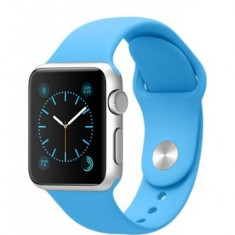 Apple Watch Sport 38mm | Carcasa aluminiu | Curea sport bleu - Smartwatch Apple, Argintiu