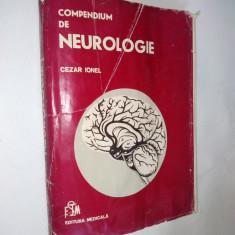 Compendium de neurologie - Cezar Ionel – 1982 - Carte Neurologie