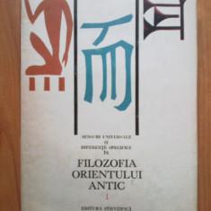 E1 FILOZOFIA ORIENTULUI ANTIC ~ION BANU - VOL. I - Filosofie