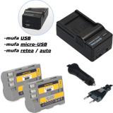 PATONA| Incarcator 4in1+ 2 Acumulatori pt Nikon EN EL3e ENEL3e ENEL3 D70s D200
