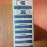 DICTIONAR GERMAN-ROMAN de MIHAI ISBASESCU - Carte in alte limbi straine