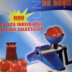 Masina tocat rosii Storcator manual de rosii sita inoxidabila si cuva colectoare - Masina de tocat manuala, Pentru rosii