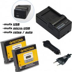 1 PATONA | Incarcator 4in1 USB+ 2 Acumulatori pt GOPRO HD HERO 1 2 960 AHDBT-001