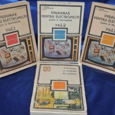 Lot 4 Carti ELECTRONICA: Indrumar pentru electronisti radio si televiziune