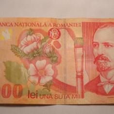 100000 lei 1998 - Bancnota romaneasca