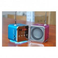 Mini Boxa Cub Cu Radio FM si Mp3 - Player