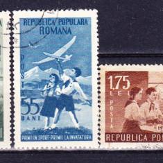 Timbre ROMANIA 1953 = PIONIERI SERIE ST., Stampilat