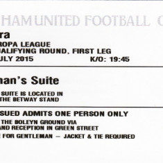 Bilet meci fotbal WEST HAM UNITED - ASTRA GIURGIU (Europa League)