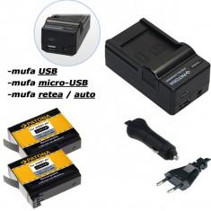 PATONA | Incarcator 4in1 USB + 2 Acumulatori GoPro Hero 4 AHDBT401 AHDBT 401